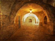 Callejón antiguo en el cuarto judío, Jerusalén fotos de archivo