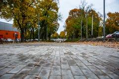 Callejón colorido del otoño Imagenes de archivo