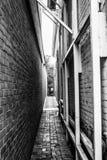 Callejón de la ciudad fotografía de archivo libre de regalías