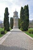 Callejón de la iglesia de Arges Foto de archivo libre de regalías