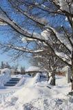 Callejón de la nieve Foto de archivo libre de regalías