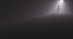 Callejón de la oscuridad de la mujer ilustración del vector