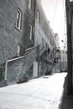 Callejón de la pequeña ciudad Foto de archivo
