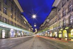 Callejón de los tenderos en Berna Imagenes de archivo