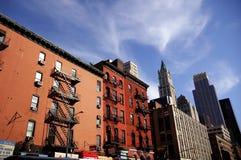 Callejón de Nueva York Imagen de archivo libre de regalías