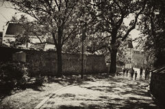 Callejón de Spichrze en Grudziadz Polonia Foto de archivo