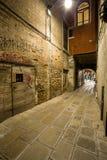 Callejón de Venecia en la noche Fotografía de archivo