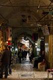 Callejón del mercado de la ciudad de Jerusalén Imagen de archivo libre de regalías