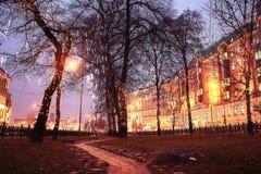 Callejón del parque de la ciudad Fotografía de archivo