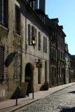 Callejón en Beaune, Francia foto de archivo