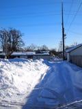 Callejón en invierno Foto de archivo