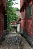 Callejón en la aldea vieja Imagenes de archivo