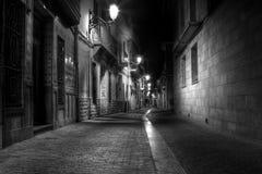 Callejón en la noche Fotografía de archivo libre de regalías