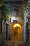 Callejón en Safed Fotos de archivo
