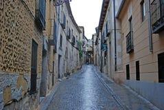 Callejón en Segovia España Imagen de archivo