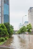 Callejón inundado Fotografía de archivo libre de regalías