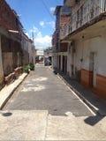 Callejón in México. Small street in Huisquilco, Jalisco, Mexico royalty free stock photos