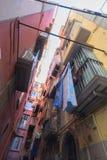 Callejón, Nápoles fotografía de archivo libre de regalías