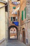 Callejón reservado - Siena Imagen de archivo libre de regalías