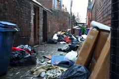 Callejón sucio de la calle posterior Imagen de archivo