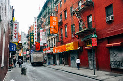 Callejón trasero en la ciudad de China en Manhattan Fotografía de archivo