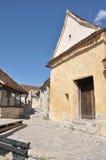 Callejón viejo en la fortaleza de Rasnov Imagen de archivo libre de regalías