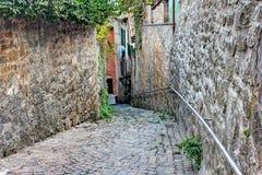 Callejón viejo en Toscana Imagen de archivo