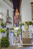 Calleja de las Flores in Cordoba, Andalusia, Spain. Stock Photography