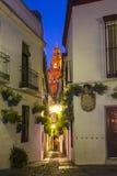 Calleja de las Flores in Cordoba, Andalusia, Spain stock photography