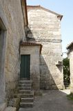 Callejón de piedra en Cambados Foto de archivo