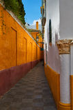 Callejon Agua street in Seville Andalusia spain. Callejon Agua street in Seville Andalusia Sevilla of spain Royalty Free Stock Photos