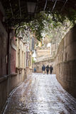Callejon de Aguas Street, Santa Cruz Neighborhood; Seville Stock Images