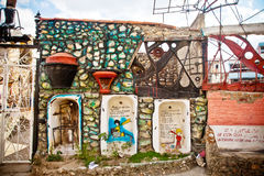 Callejon de Hamel alley, Havana. HAVANA, CUBA - DEC 30: graffiti on Callejon de Hamel alley on December 30 2012 in Havana, Cuba. Callejon de Hamel has been Stock Photography