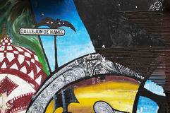 Callejon de Hamel wall painting, Havana, Cuba Royalty Free Stock Images