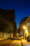Callejon de los Estribos. In Cartagena de Indias at Night Royalty Free Stock Photo