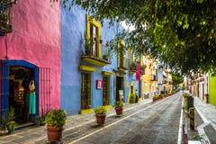 Callejon de los Sapos -普埃布拉,墨西哥 免版税库存照片
