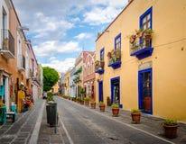 Callejon de Los Sapos - Puebla, Mexiko Stockfotos