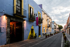 Callejon de los Sapos - Puebla, Mexique Photo stock