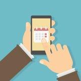 Callendar en smartphone ilustración del vector