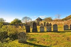 callendar kyrkogård gammala scotland Arkivfoto