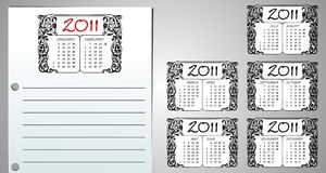 Callendar page Stock Photos