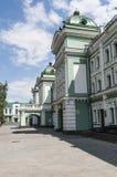 Calles centrales de Omsk Fotografía de archivo