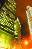 Calles coloridas de la noche Foto de archivo