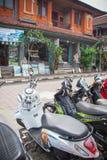 Calles comerciales de Ubud Foto de archivo