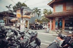 Calles comerciales de Ubud Fotografía de archivo libre de regalías