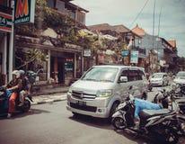 Calles comerciales de Ubud Imagen de archivo
