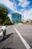 Calles con los casinos en Niagara Falls fotografía de archivo libre de regalías