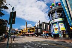 Calles con los casinos en Niagara Falls imágenes de archivo libres de regalías
