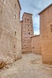 Calles de AIT Ben Haddou en Marruecos Foto de archivo