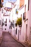 Calles de Altea foto de archivo